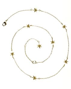 Maison de Morgana Tiny Star Necklace in Brass