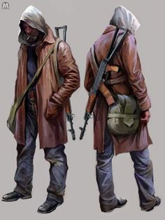 View an image titled 'Stalker Concept Art' in our Metro 2033 art gallery featuring official character designs, concept art, and promo pictures. Post Apocalypse, Apocalypse Survivor, Apocalypse World, Mad Max, Character Concept, Character Art, Metro Last Light, Apocalypse Character, Post Apocalyptic Art
