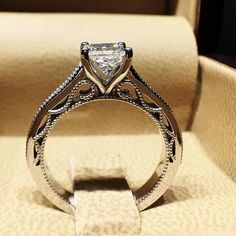 Wow! Look at that detail! #diamond #diamonds #wedding #weddings #engagement…