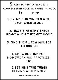 5 ways to stay organized & connect with your kids after school - Ideen finanzieren After School Routine, School Routines, Parenting Advice, Kids And Parenting, Mindful Parenting, School Days, Back To School, Connect, Budget Planer