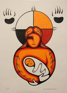 <3 Four Directions Mother and Child - Jerimiah Mason, aboriginal art