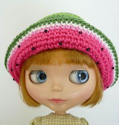 Blythe Hat Watermelon  by TeenyWeenyDesign/Adrianne, via Flickr