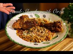 Serves: 5 lamb shanks 1 large onion, finely chopped ¼ cup olive oil garlic cloves, chopped 1 ounce) can pureed tomatoes 1 tablespoon tomato paste 1 cinnamon stick 2 cloves 1 bay leaf Greek Recipes, Wine Recipes, Real Food Recipes, Cooking Recipes, Best Greek Food, Med Diet, Greek Cooking, Lamb Shanks, Greek Dishes