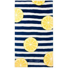 Limoncello Beach Blanket   Chloe + Isabel (70 AUD) ❤ liked on Polyvore featuring home, bed & bath, bedding, blankets, oversized beach blanket, cotton bedding, oversized blankets, cotton blanket and oversized bedding