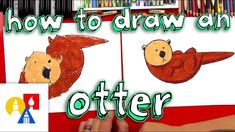 How to draw an otter with shapes is meant for young artists. We've made this activity short and super fun just for them. EMAIL A PHOTO OF YOUR ART: myart Art For Kids Hub, Art Hub, All You Need Is, 3rd Grade Art, Grade 3, Arts And Crafts House, Sand Crafts, Fun Activities To Do, Shape Art