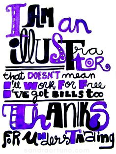 I am an illustrator lettering sketch, by Sandra Ortuño (http://www.facebook.com/sandraortuno)