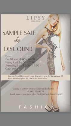 Lipsy Londen sample sale -- Amsterdam -- 30/06-02/07
