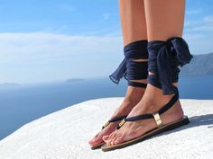 Sandalias griegas lujosas sandalias con por GreekChicHandmades