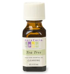 tea tree oil - GODLY. i wish i'd discovered it sooner. this lists many uses, but the most important use i've found for it is getting rid of bikini irritation after waxing and getting rid of pimples! seriously, this stuff's amazing. apparently it also gets ride of dandruff, helps with flees, and homemade cleaning supplies.