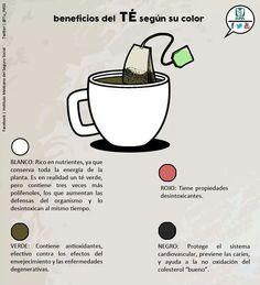 #Te y sus beneficios, según su color.