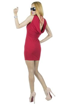 Rochie Dama Bella  Rochie dama confectionata din material elastic ce se muleaza frumos pe silueta. Design modern, partea din spate usor drapata ii confera un plus de senzualitate.     Latime talie: 35cm  Lungime: 84cm  Compozitie: 90%Poliester, 10%Elasten Modern, Dresses, Design, Fashion, Vestidos, Moda, Trendy Tree, Fashion Styles