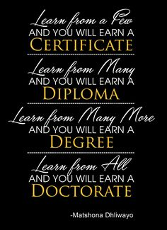 Learn from many, and you will earn a diploma. Wisdom Quotes, Art Print, Printables, Etsy Shop, Learning, Digital, Print Templates, Studying, Block Prints