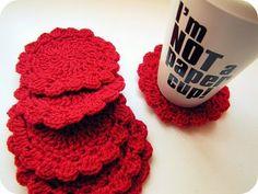 PaisleyJade: Crochet Coasters. Granny tastic