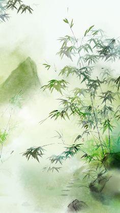 Chinese Landscape, Fantasy Landscape, Fantasy Art, Watercolor Landscape, Landscape Paintings, Watercolor Paintings, Image Japon, Art Asiatique, China Art