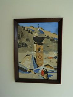 Alfons Walde Stil Art Deco gemalt painted 1941 Holzrahmen Frame Tirol Aurach Art Deco, Ebay, Frame, Painting, Timber Frames, Picture Frame, Painting Art, Paintings, Frames