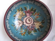 Beautiful Norwegian Rosemaling in Valdres Style on Wooden Bowl. on Etsy, $250.00