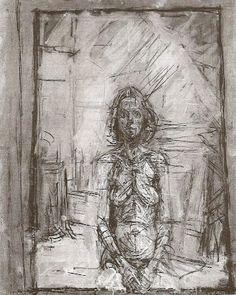Alberto Giacometti 'Portrait of Annette' 1954 Alberto Giacometti, Giovanni Giacometti, Figure Painting, Figure Drawing, Painting & Drawing, Giacometti Paintings, Portraits, Art Graphique, Famous Artists