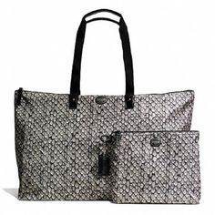 Large- Coach Getaway Snake Print Packable Weekender . Starting at $14 on Tophatter.com!
