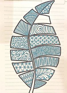 Inspired by luann kessi embroidery doodle art, zentangle patterns, leaf art. Doodle Art Drawing, Zentangle Drawings, Mandala Drawing, Zentangle Patterns, Doodle Patterns, Art Drawings, Doodling Art, Leaf Patterns, Art Patterns