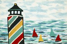 Trans Ocean Visions IV Collection 4155/44 LIGHTHOUSE MULTI
