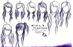 Long hairstyles. I can't wait for my hair to get long again. I just need to remember to keep it layered and thinned so it doesn't matte like it used to!