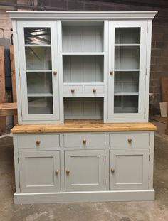 5' Glazed dresser painted Shaker style. Bespoke and made to order.