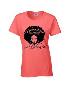 Fabforty afro t-shirt natural hair T-shirt by NewTribeNewTradition