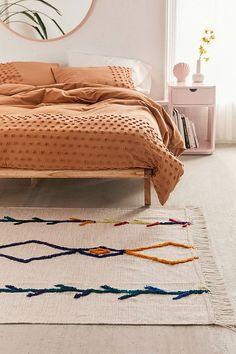 Faiza Tufted Rug - My best decoration list Home Design, Home Interior Design, Design Ideas, Wall Design, Bohemian Bedrooms, Boho Living Room, Home Living, Farmhouse Side Table, Cute Dorm Rooms