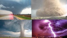 MASSIVE TORNADO UP CLOSE Footage, Powerful Storms And Updated Weather Fo...