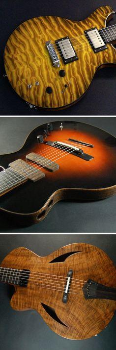 The custom musical instruments of David Myka.