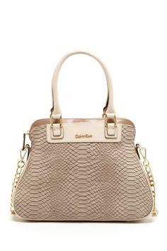 Calvin Klein Washington Embossed Snake Satchel by Bag Boutique on @HauteLook