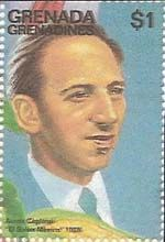Aaron Copland (american composer/conductor, 1900-90) issued 1996 (SG no. 2228, part of miniature sheet)