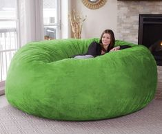 Chill Sack Bean Bag, Microsuede - Lime #CuteGiftIdeas #Gift #LazySofa