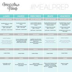 One week of healthy & lowcarb meal plan Une semaine de repas sains et IG bas Megalowfood Overnight Oats Chia, Menu Ig Bas, Sixpack Training, Batch Cooking, Food Menu, Food Hacks, Meal Planning, Meal Prep, Prepping