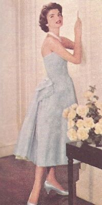 Jackie posing for an article in Ladies Home Journal in the 50's.