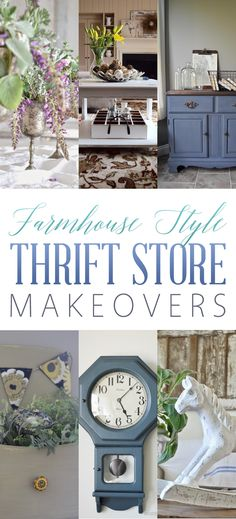 Farmhouse Style Thrift Store Makeovers - The Cottage Market