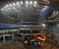 Tapping the blast furnace no.2, AM Dabrowa Gornicza, Poland. by Viktor Macha, via Flickr