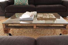 Mesa de centro con un palet