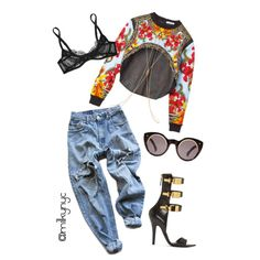 A fashion look from October 2014 featuring lace bra, leather sandals and body chain jewellery. Browse and shop related looks. Latest Fashion For Women, Teen Fashion, Love Fashion, Fashion Outfits, Womens Fashion, Fashion Trends, Fashion Inspiration, Latest Outfits, Dope Outfits