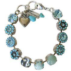 Mariana Silver Plated Large Flower Shapes Swarovski Crystal Bracelet. Available at www.regencies.com