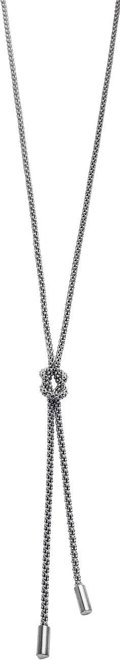 Kanu. Varenr KSK80073.01. Trendy halskjede i oksidert sølv.