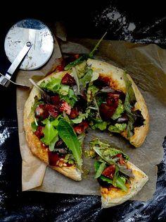 Mexican salad pizza ~ quinoa crust #vegan
