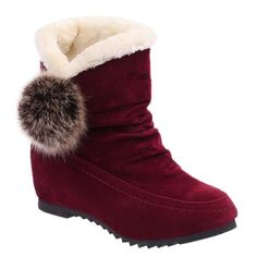 GET $50 NOW   Join RoseGal: Get YOUR $50 NOW!http://www.rosegal.com/boots/flock-pompon-flat-heel-snow-678439.html?seid=7100241rg678439