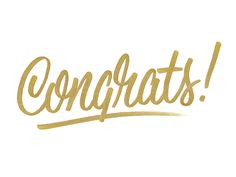 Congrats by Todd Wendorff Types Of Lettering, Brush Lettering, Instagram Background, Text Layout, Text Pictures, Moving Pictures, Congratulations Graduate, Text Animation, Apps