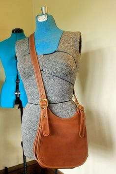 Brown Leather Vintage Coach Purse on Etsy, $72.00