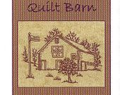 Quilt Barns Star - Redwork Hand Embroidery Pattern - by Beth Ritter - Instant Digital Download
