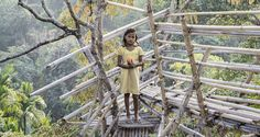 The village is home to the Khasi people, who follow matrilineal traditions. India