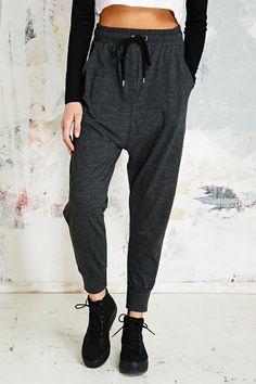 Sparkle & Fade Drop Crotch Sweat Pants in Charcoal  http://www.urbanoutfitters.com/uk/catalog/productdetail.jsp?id=5123428386119&parentid=WOMENS-TROUSERS-LEGGINGS-EU