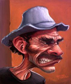 Caricatura de DON RAMON, (Chavo del Ocho). Ilustração pessoal. 2012.Seu Madruga by o Bruno Mota, via Flickr