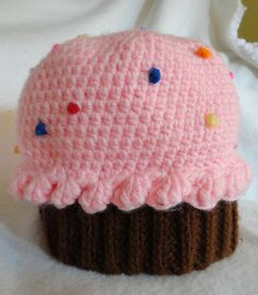 Crochet Cupcake HatMANY OPTIONS by ImagiknitCreations on Etsy, $19.00